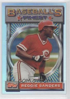1993 Topps Finest - [Base] - Refractor #20 - Reggie Sanders