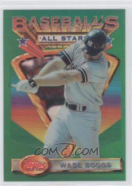 1993 Topps Finest - [Base] - Refractor #90 - Wade Boggs