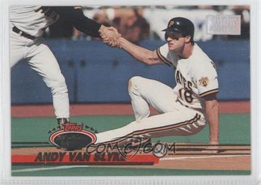 1993 Topps Stadium Club - [Base] - 1st Day Issue #394 - Andy Van Slyke