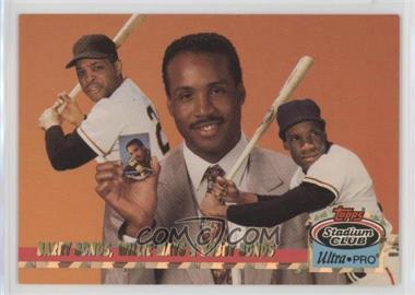 1993 Topps Stadium Club Ultra-Pro - Box Topper [Base] #1 - Willie Mays, Barry Bonds, Bobby Bonds /150000