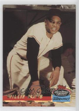 1993 Topps Stadium Club Ultra-Pro - Box Topper [Base] #2 - Willie Mays /150000