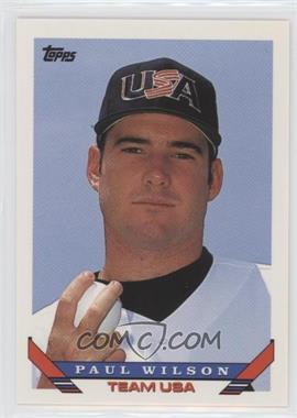 1993 Topps Traded - [Base] #107T - Paul Wilson