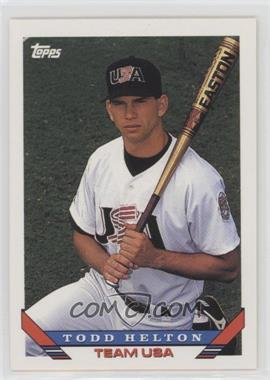 1993 Topps Traded - [Base] #19T - Todd Helton