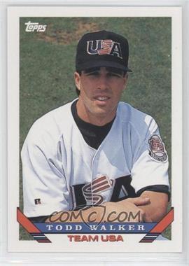 1993 Topps Traded - [Base] #79T - Todd Walker