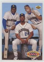 Jay Buhner, Ken Griffey Jr., Kevin Mitchell
