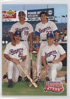 Teammates - Juan Gonzalez, Jose Canseco, Ivan Rodriguez, Rafael Palmeiro
