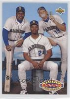 Teammates - Kevin Mitchell, Ken Griffey Jr., Jay Buhner