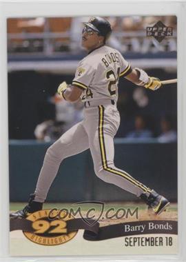 1993 Upper Deck - Season Highlights #HI 5 - Barry Bonds