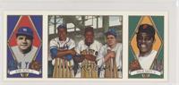 Babe Ruth, Willie Mays, Hank Aaron