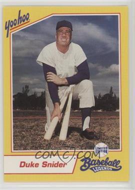 1993 Yoo-Hoo Limited Edition Baseball Legends - [Base] #DUSN - Duke Snider