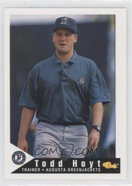1994 Classic Augusta GreenJackets - [Base] #30 - Todd Hoyt