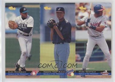 1994 Classic Minor League All Star Edition - Tri-Cards #T73-74-75 - Alex Rodriguez, Mac Suzuki, Marc Newfield /8000