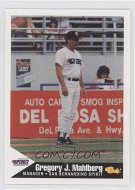 1994 Classic San Bernardino Spirit - [Base] #25 - Greg Mahlberg