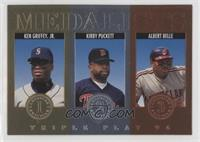 Kirby Puckett, Albert Belle, Ken Griffey Jr.