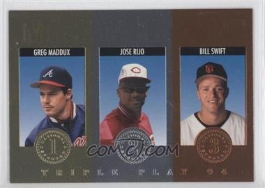 1994 Donruss Triple Play - Medalists #14 - Greg Maddux, Jose Rijo, Bill Swift