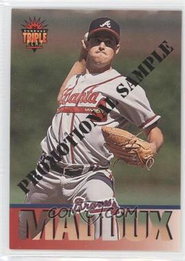 1994 Donruss Triple Play - Promotional Samples #10 - Greg Maddux