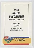 Checklist - Salem Buccaneers