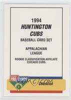 Checklist - Huntington Cubs