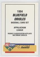 Checklist - Bluefield Orioles