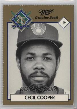 1994 Miller Brewing Milwaukee Brewers 25 Year Commemorative - [Base] #CECO.1 - Cecil Cooper (Portrait)