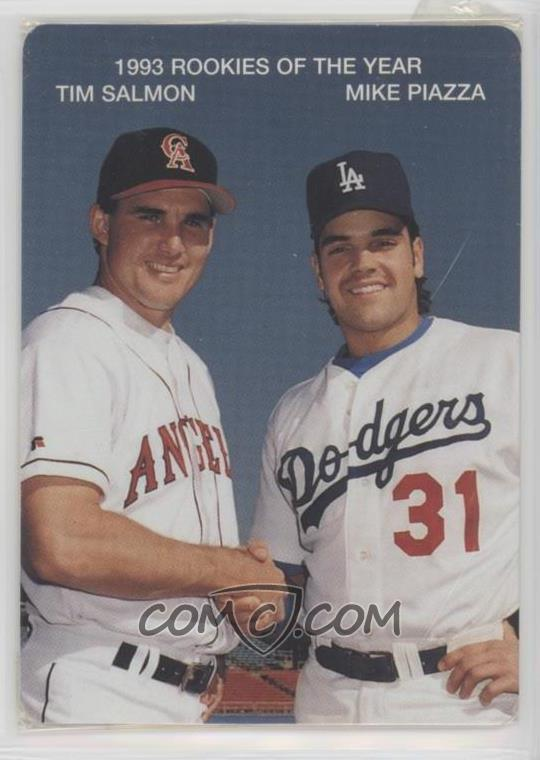 Tim Salmon Baseball Cards Matching Mike Piazza