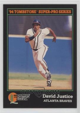 1994 Score Tombstone Pizza - Food Issue [Base] #11 - David Justice