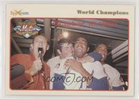 Lindsey Nelson, Ron Swoboda, Tommie Agee, Cleon Jones, Tom Seaver, Jerry Koosman
