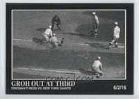 Groh Out at Third (Heinie Groh)
