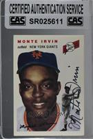 Monte Irvin [CAS Certified Sealed]