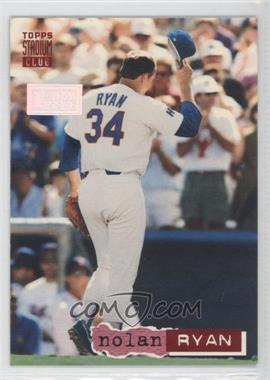 1994 Topps Stadium Club - [Base] - 1st Day Issue #34 - Nolan Ryan