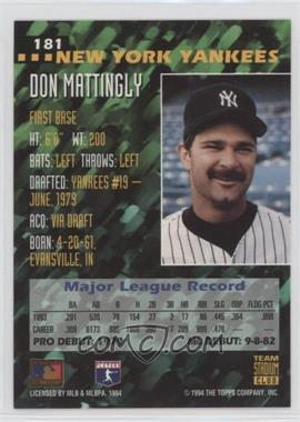 f01e9a2db5 1994 Stadium Club Team - BaseballCardPedia.com