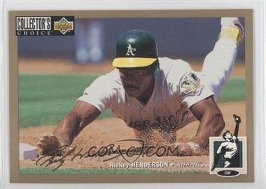 1994 Upper Deck Collector's Choice - [Base] - Gold Signature #510 - Rickey Henderson