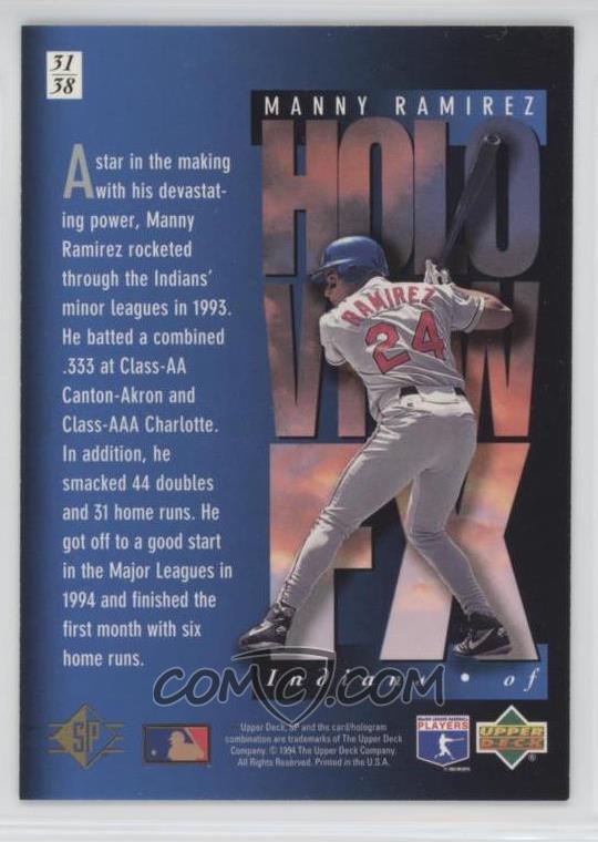 1994 Upper Deck SP - Holoview FX #31 - Manny Ramirez