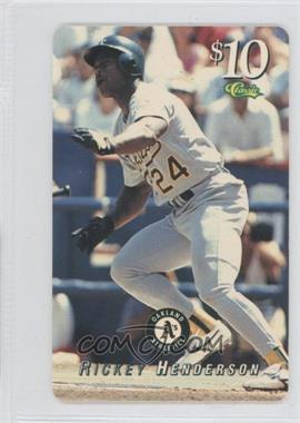 1995 Classic Phone Cards - [Base] - $10 #RIHE - Rickey Henderson