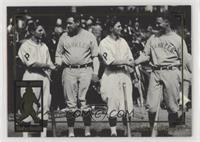 Babe Ruth, Lloyd Waner, Lou Gehrig, Paul Waner