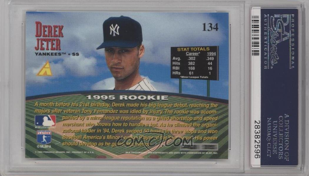 1995 Pinnacle Zenith Edition Base 134 Derek Jeter Psa 10 Gem Mt