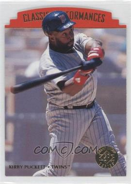 1995 SP Championship Series - Classic Performances - Die-Cut #CP8 - Kirby Puckett
