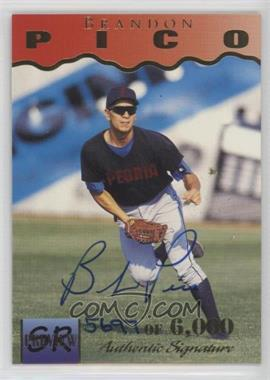 1995 Signature Rookies - Previews - Signatures [Autographed] #28 - Brandon Pico /6000