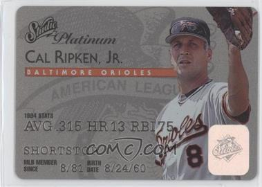 1995 Studio - [Base] - Platinum Plastic Stock #8 - Cal Ripken Jr.