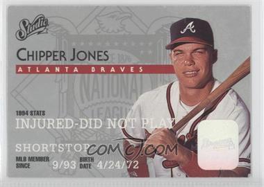 1995 Studio - [Base] #160 - Chipper Jones