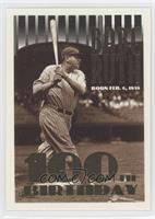 Babe Ruth (Error: Missing Topps Logo on Top Left Corner)