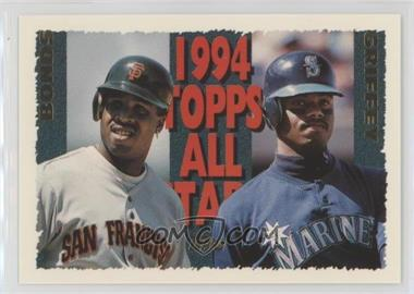 0d3a7f4ec6 1995 Topps - [Base] #388 - Barry Bonds, Ken Griffey Jr.