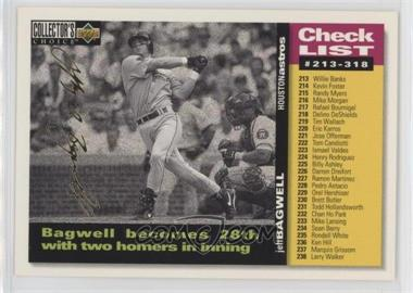 1995 Upper Deck Collector's Choice - [Base] - Gold Signature #528 - Jeff Bagwell
