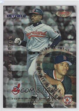 1996 Bowman's Best - Mirror Image - Atomic Refractor #6 - Kenny Lofton, Donnie Sadler, Barry Bonds, Andruw Jones