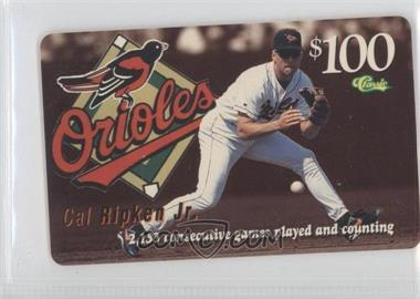 1996 Classic Cal Ripken Jr. Phone Cards - [Base] #CARI.1 - Cal Ripken Jr. (Fielding, 2153 Consecutive Games Played)