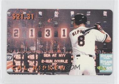 1996 Classic Cal Ripken Jr. Phone Cards - [Base] #CARI.2 - Cal Ripken Jr. (Bat Behind Shoulder)