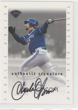 1996 Leaf Signature Series - Signatures Update #CHOB - Charlie O'Brien