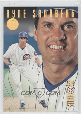 1996 Leaf Studio - [Base] - Gold Press Proof #6 - Ryne Sandberg /500