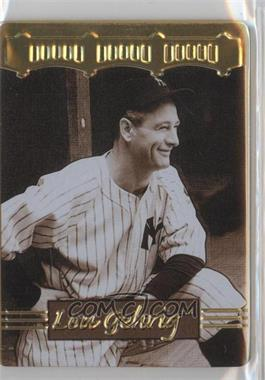 1996 Metallic Impressions Cooperstown Collection Lou Gehrig - Collector's Tin [Base] #1 - Lou Gehrig