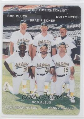 1996 Mother's Cookies Oakland Athletics - Stadium Giveaway [Base] #28 - Duffy Dyer, Denny Walling, Bob Cluck, Brad Fischer, Bob Alejo, Ron Washington